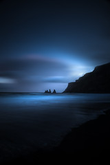 Redemption (Impossi[A]ble) Tags: ocean travel sunset sea sky mountain seascape black beach dark coast iceland nikon rocks long exposure beaches troll