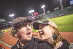 Some Fenway Fun in the Rain (Jonmikel & Kat-YSNP) Tags: rain boston night baseball redsox fenway raining fenwaypark select nightgame