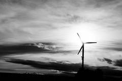 sun and wind (AxelN) Tags: sky blackandwhite bw sun windmill clouds germany deutschland himmel wolken sw windrad sonne windwheel windpower gegenlicht windkraft badenwrttemberg schwarzweis jettingen silverefexpro2
