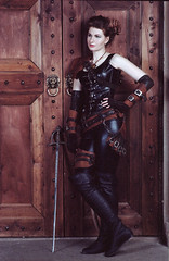 Shade Cosplay (Woodent) Tags: film girl studio cosplay fantasy shade dungeonsanddragons tiefling rogue dd dnd kodakportra160 olympusom3
