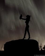Lady of nature (petrisalonen) Tags: lady finland landscape women owl maisema northernlights aurorasborealis naturenaturephotography