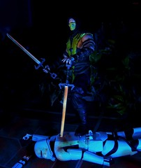 A Blade in the Night (BrickSev) Tags: fiction game night actionfigure star starwars video fight order force action ninja stormtroopers first indoor battle games science scorpion videogames actionfigures figure scifi stormtrooper stealth videogame sciencefiction wars figures episode diorama vii tabletop crossover the awakens firstorder episodevii flametrooper mortalkombatx theforceawakens forceawakens