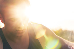 Rauschy (kentgeiner) Tags: park old light sunset party sun man hot guy face photoshop lens gold golden eyes nikon raw sonnenuntergang bright snapshot bbq lips barbecue hour lensflare flare tanktop late but sonne goldenhour muskeln nikond3200 nikonraw d3200 oldbutgold linsenreflektion linsenreflexion