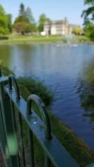 Astley Park (elliemcc11) Tags: park fountain metal fence pond dof bokeh walk lancashire chorley selectivefocus astley samsunggalaxys6