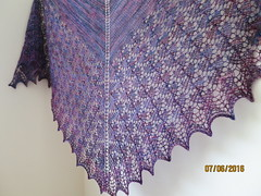 Ishbel by Ysolda Teague (LucciolaS) Tags: scarf neck triangle knitting lace accessories shawl knits knitted malabrigo ishbel shawlette ysoldateague malabrigosock
