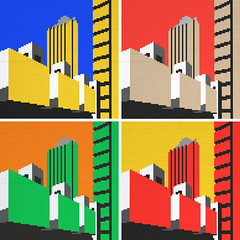 LEGO Barbican All Colours (daveh_design) Tags: art architecture lego wallart brutalism afol brutalistarchitecture legomoc legomosaic