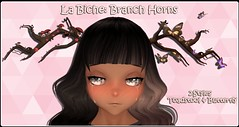 La Biche: Branch Horns (La Biche SL) Tags: pink anime cute mushroom butterfly horns fairy fantasy kawaii toadstool mystical