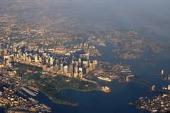 Sydney from above (vaibhavsarma) Tags: bridge blue house harbor opera downtown sydney australia images aerial aus hoiday cud