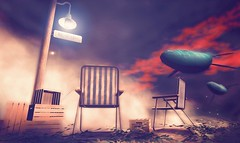 WHALE WATCHING. (WHOLE WHEAT Landscapes) Tags: world pink blue red sky terrain plants cloud brown white fish plant black green beach water beer lamp set clouds docks dark landscape photography design landscapes town flying photo fishing dock chair ship beers landscaping teal wheat lawn dream floating row whole deck fantasy secondlife writers rowboat whale were dreamy lamps float crate decor desination