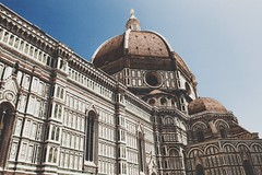 Florence Cathedral (- Anthony Papa -) Tags: anthony papa photos tumblr vintage matte film digital amazing long depth composition canon5dmkii 24105mm blue sky clouds landscape photography digitalrev white art travel architecture florence italy cathedral history europe