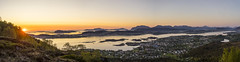Sula [Panorama] (Chris-Hvard Berge) Tags: sunset panorama sun nature norway zeiss 35mm landscape norge sony carl moutains lesund solnedgang sula sunnmre landskap a7r