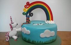 Over the Rainbow (Hardcore Prawn) Tags: birthday cake rainbow celebration handcrafted unicorn fondant gumpaste glutenfree