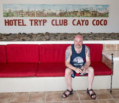 Lobby relax. . . (CWhatPhotos) Tags: pictures sky sun holiday hot water june tattoo digital ink pose that island four photography hotel design day skies foto arms image artistic time pics chest cuba sunny pic olympus images shades tribal tattoos wear lobby clear have tryp reception photographs coco photograph fotos shoulders cuban shoulder which contain cayo inked hols tatts tattooed 2016 hirds hoteltryp hoteltrypcayococo cwhatphotos
