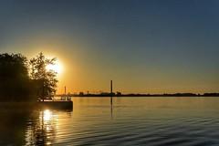 Sunrise in Toronto (wiedenmann.markus) Tags: urban lake toronto ontario canada nature water sunrise relax peace mind harbourfront