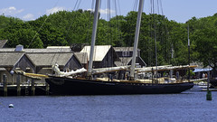The America (joegeraci364) Tags: new travel summer vacation england sky cloud seascape color art beach water weather museum season relax landscape fun outdoors coast boat ship connecticut small scenic craft shore boating sail destination leisure serene nautical tallship schooner trap mystic seaport