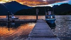 Fire and water (Images by Christie  Happy Clicks for 2016!) Tags: sunset sky canada water river boats fire nikon bc embers d5200