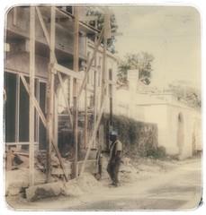 Road Town Worker (podolux) Tags: street man worker streetphoto 1970 tortola bvi britishvirginislands scannedslide postprocessing