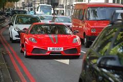 Ferrari 430 Scuderia (D's Carspotting) Tags: red london united kingdom ferrari scuderia 430 20101030 lj10ggy