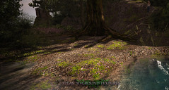 New Ground 3D Texture by Vita - Gravel with Leaves and Grass (Vita Camino) Tags: new summer terrain texture forest river blog rocks place camino market stones ground visit best sl pebble secondlife buy rent sim gravel visited slur 2016 rentals