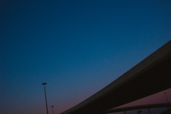 IMG_3700 (difficult listening) Tags: pink blue sunset highway fuzzy dream overpass outoffocus freeway dreamscape aesthetic