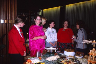 West Germany   -   HerbornSeelbach   -   Damen Kaffee at the OHG (Offene Handelsgesellshaft)   -   Aartal Kaserne   -   Catherine, Angie, Cindy, Karen, Barbara & Tanya   -   8 december 1989