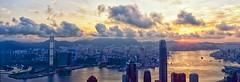 Sunrise on 26-6-2016 Hong Kong (LarryChan) Tags: film sunrise hongkong kodak victoriapeak victoriaharbour xpanii colourfilm