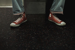 nyc chucks (otacon4130) Tags: street new york city nyc newyorkcity red people digital zeiss subway 50mm town shoes mood manhattan streetphotography lifestyle minimal converse moment capture chucks jasonlee ze chucktaylor shallowdof lfe otacon canon5dmarkii