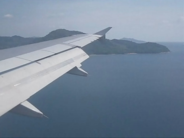 A320 landing HKT 11Mar12