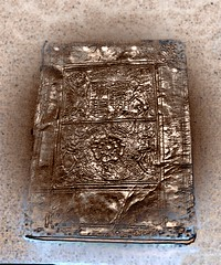 Magic of Ancient Tomes (Lammyman) Tags: old uk england monochrome sepia manchester vent book ancient britain edited library libraries room air books case greater innercity bookcase eastern darkened 1537 1300s photoscape johnryland rylandslibrary