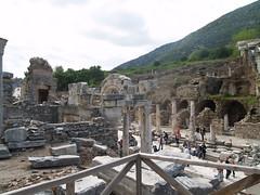 Ephesus - view from the Baths of Varius (drencrome) Tags: turkey trkiye romanempire ephesus seluk efes ephesos arkeoloji archeaology templeofhadrian curetesstreet curetescaddesi hadriantapna