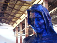 Face (Clanaty) Tags: old blue sculpture face azul stone escultura