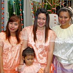 Celebrating the inauguration of a spirit house or san phra phum in traditional Thai costumes thumbnail
