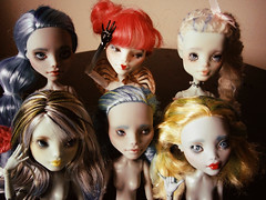 New doll batch (happy dolls) Tags: cute monster ball high doll forsale sweet adorable frankie kawaii bjd cupid etsy custom happydolls fa fs jointed repaint reroot foradoption lagoona ghoulia hellohappy