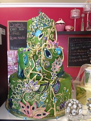 """Peacock Jewel Cake (Sweet Ambrosia BakeShoppe) Tags: birthday christmas family pink flowers blue winter wedding friends boy red party summer blackandwhite food orange woman baby brown white holiday snow canada man black flower green art fall halloween girl cookies fashion yellow glitter vintage silver shower happy corporate gold cupcakes photo 3d spring purple chocolate anniversary tan valentine sugar desserts sparkle event lilac regina saskatchewan bridal modelling couture sculpted decorated fondant tiered gumpaste sweetambrosiabakeshoppe """"sweetambrosiabakeshoppe""""cake wwwkimandashleescom kimandashleessweetambrosiabakeshoppe"""