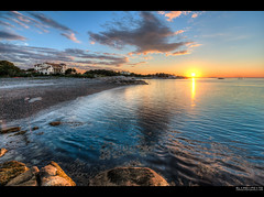 promises for tomorrow | cohasset, ma (elmofoto) Tags: sunset seascape landscape coast photo nikon rocks tramonto fav50 fav20 fav30 seashore hdr highdynamicrange massachussets d800 cohasset fav10 tonemapping fav40 5000v 1424mm nikond800 elmofoto lorenzomontezemolo forcurators wwwelmofotocom