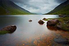 Loch Etive (mark_mullen) Tags: longexposure lake rural landscape scotland countryside highlands rocks shoreline scottish hills shore glencoe shores munro dreich canon1740f4 argyllandbute lochetive benstarav bentrilleachan dalness canon5dmk3 leebigstopper markmullenphotography