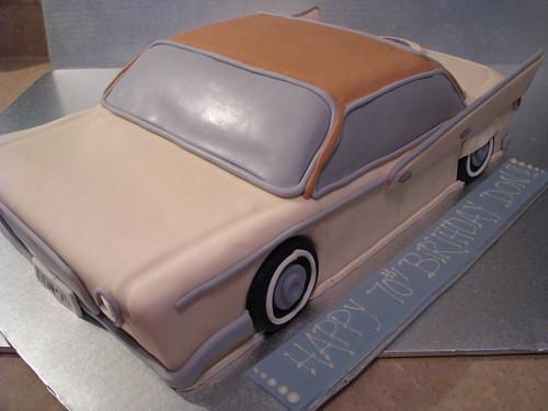 classic car birthday cake