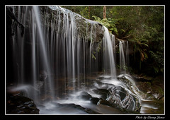 Somersby Falls - 21-0702912_0063-Framed (DoctorJ73) Tags: water rock canon flow eos james waterfall moss falls 7d danny sundance somersby