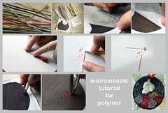 micromosaic tutorial for polymer (AleksandraMicic) Tags: jewelry images fimo primo photographs howto sculpey tutorial pardo stepbystep ploymer biolin micromosaic beolin micicart aleksandramicic