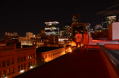Badass rooftop portrait (Industrial Relics Photography) Tags: city portrait rooftop up station night self photography lights for hotel high nikon long exposure industrial union dont nikkor across 1870mm relics mile offices ask handouts d7000 dontaskforhandouts ilikegoinginabandonedbuildingsitisfunandeducationalbutkindabadforyourhealthohwelliguess
