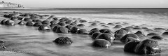 Bowling Ball Beach (Scott Sharick) Tags: ocean california longexposure bw beach water rock us blackwhite unitedstatesofamerica panoramic pacificocean round mendocino pointarena bowlingballbeach schoonergulch