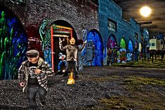 The Door Bell Ditch (Jaughn Bearen) Tags: sf art composite nikon mask creative scene imagination 24mm alienbees d90 jaughnbearen