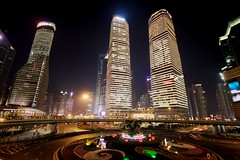 Shanghai (jo.sau) Tags: china urban architecture modern night buildings skyscrapers shanghai future tall futuristic dangoraiiai kinija anchajus