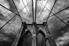 brooklyn bridge. (jj_foto) Tags: new york city nyc bridge white black architecture brooklyn artlegacy
