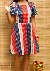 Miss Fil-Am 1964 (fortunecatlady) Tags: blue red white yellow vintage butterfly style mini manila filipina sleeve pinoy filipiniana fortunecat