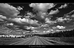 I-90, The Freeway on Black & White (Tokina 11-16mm) (Jayesh Modha) Tags: bw blackwhite i90 spokanewa interstatehighway thefreeway atx116prodx tokina1116mmf28dxlens jayeshmodha jayeshmodhanikond90 tokina1116mmfornikon cloudswithtokina freewayonblackwhite