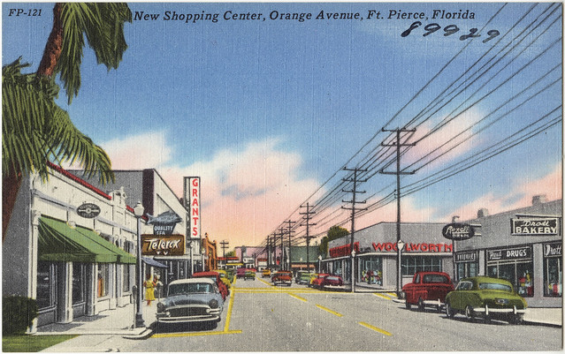 New shopping center, Orange Avenue, Ft. Pierce, Florida