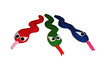 Evil Snakes (What a stitch up!) Tags: blue red green toy toys handmade snake sewing felt plush plushies softie softies plushie handsewn snakes softtoy softtoys greensnake bluesnake childfriendly redsnake vickyhill whatastitchup angrysnakes evilsnakes
