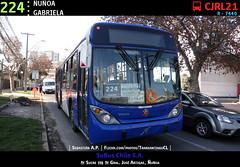 224 | ÑUÑOA - GABRIELA (Mr. Mobitec) Tags: chile santiago bus volvo publictransport transporte marcopolo santiagodechile ñuñoa transantiago volvob7rle b7rle granviale zonag troncal2 subuschile