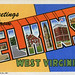 Greetings from Elkins, West Virginia - Large Letter Postcard
